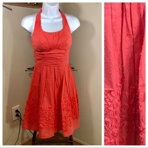 B.Darlin | Coral Halter Floral Dress